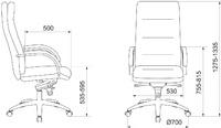 Кожаное кресло руководителя Бюрократ T-9927SL