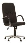 Кресло кожаное Менеджер стил хром